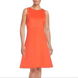 Ivanka Trump Orange Elegant Sheath Dress Size 12
